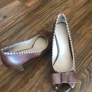 Franco Sarto chunky heels leather